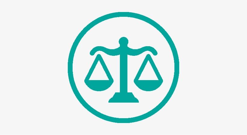 Silueta De Una Balanza Representando La Justicia.