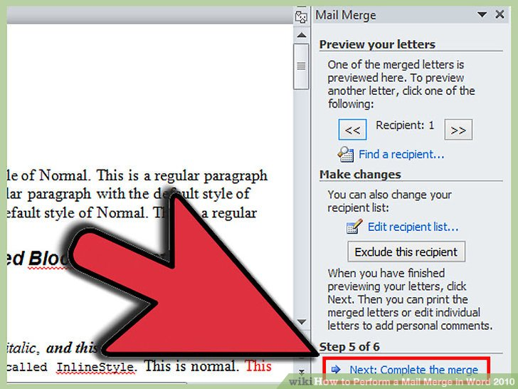 How to Perform a Mail Merge in Word 2010 (with Pictures).