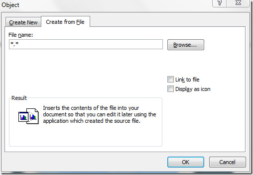 Insert Audio File In Microsoft Word 2010.