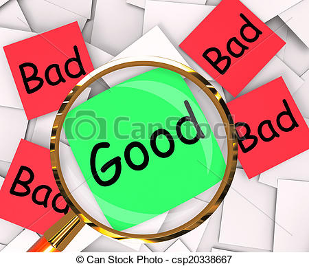 Stock Image of Good Bad Post.