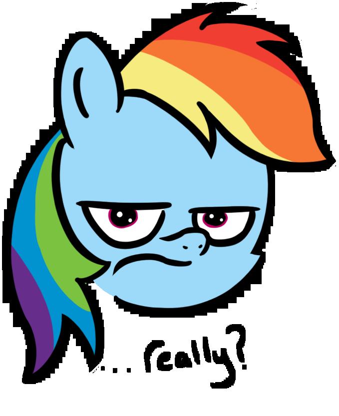 Rainbow Dash is Unamused by AnEvilZebra on DeviantArt.