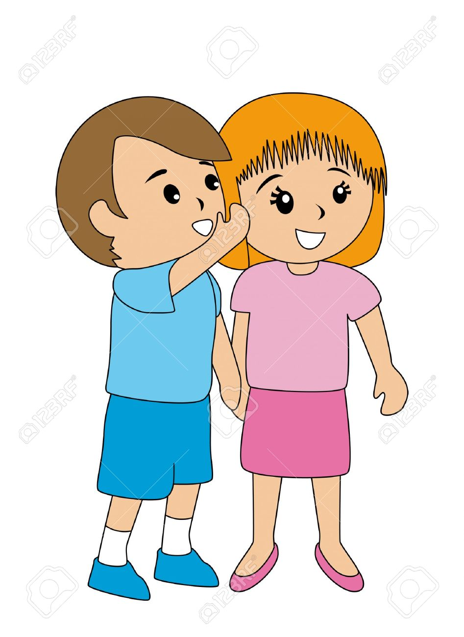 Whispering People Clipart Free.