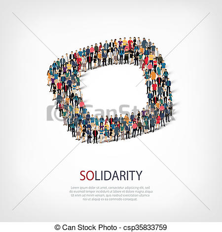 Solidarity People Clipart Free.