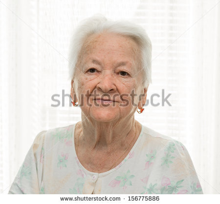 Old Woman Good Funny Face Stock Photo 37341145.