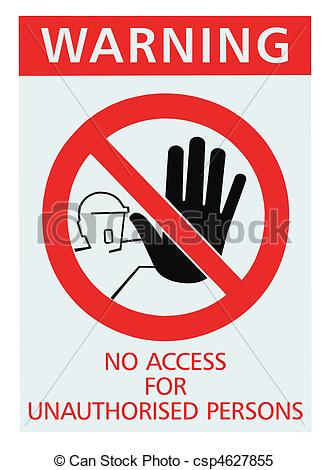 Unauthorised access Clipart and Stock Illustrations. 50.