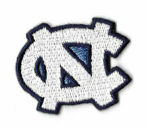UNC North Carolina TarHeels Logo Iron On Embroidered Patch Nike NCAA Jersey  Neck.