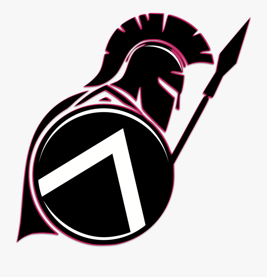 Black And White Spartan , Free Transparent Clipart.