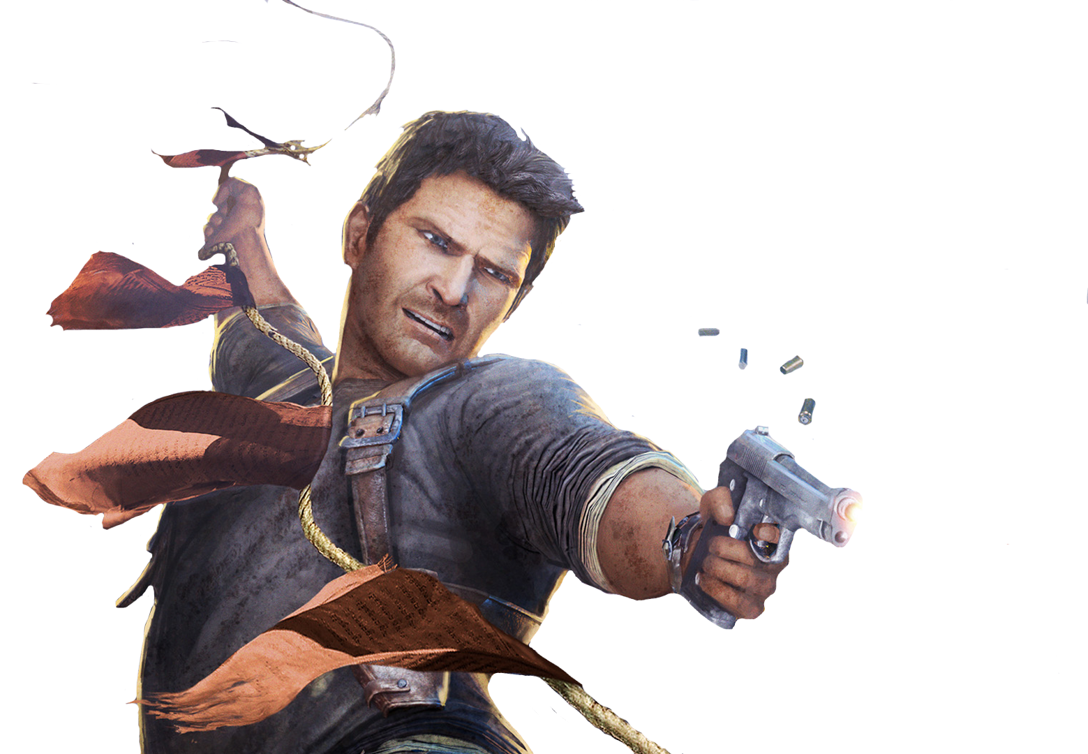 Nathan Drake Uncharted PNG Image Background.