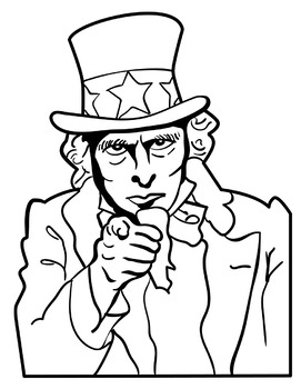 Uncle sam clipart black and white 6 » Clipart Station.