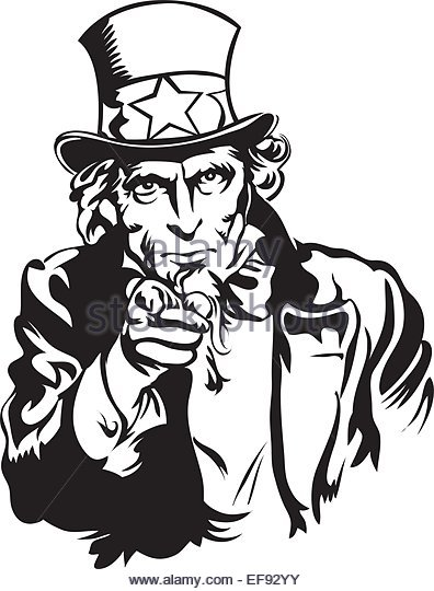 405 Uncle Sam free clipart.