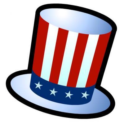Uncle Sam\'s Hat {Patriotic Clipart}.
