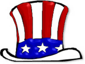 Clipart Picture of Uncle Sam's Hat.