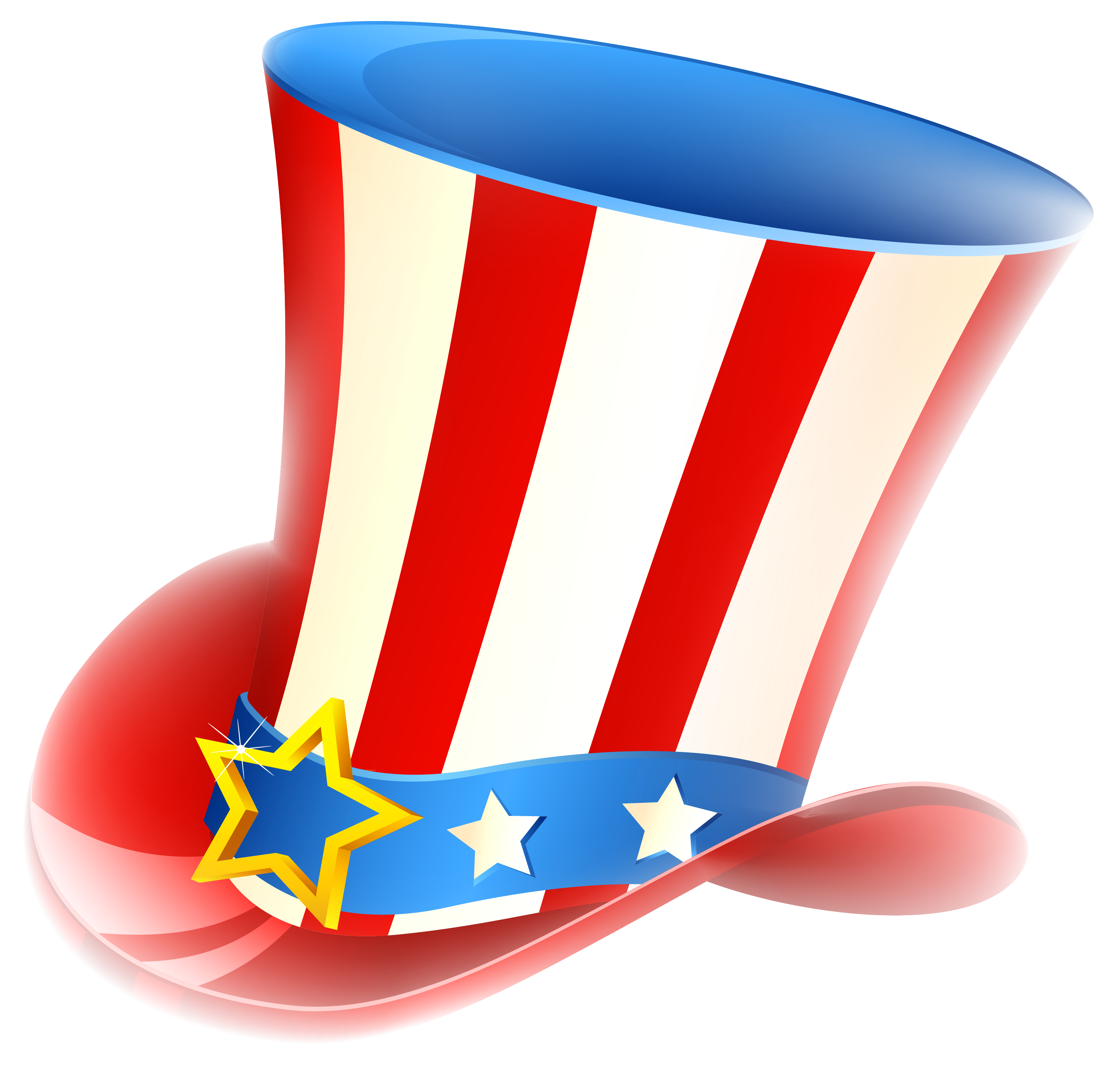 Patriotic Uncle Sam Hat PNG Clipart.