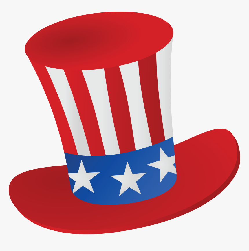 Free Clipart Of A Patriotic American Top Hat.