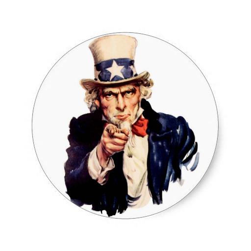 Uncle Sam Wants You Clip Art.