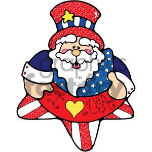 vector art patriotic uncle sam clipart. Royalty.