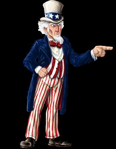 Uncle Sam Clipart Full Body.
