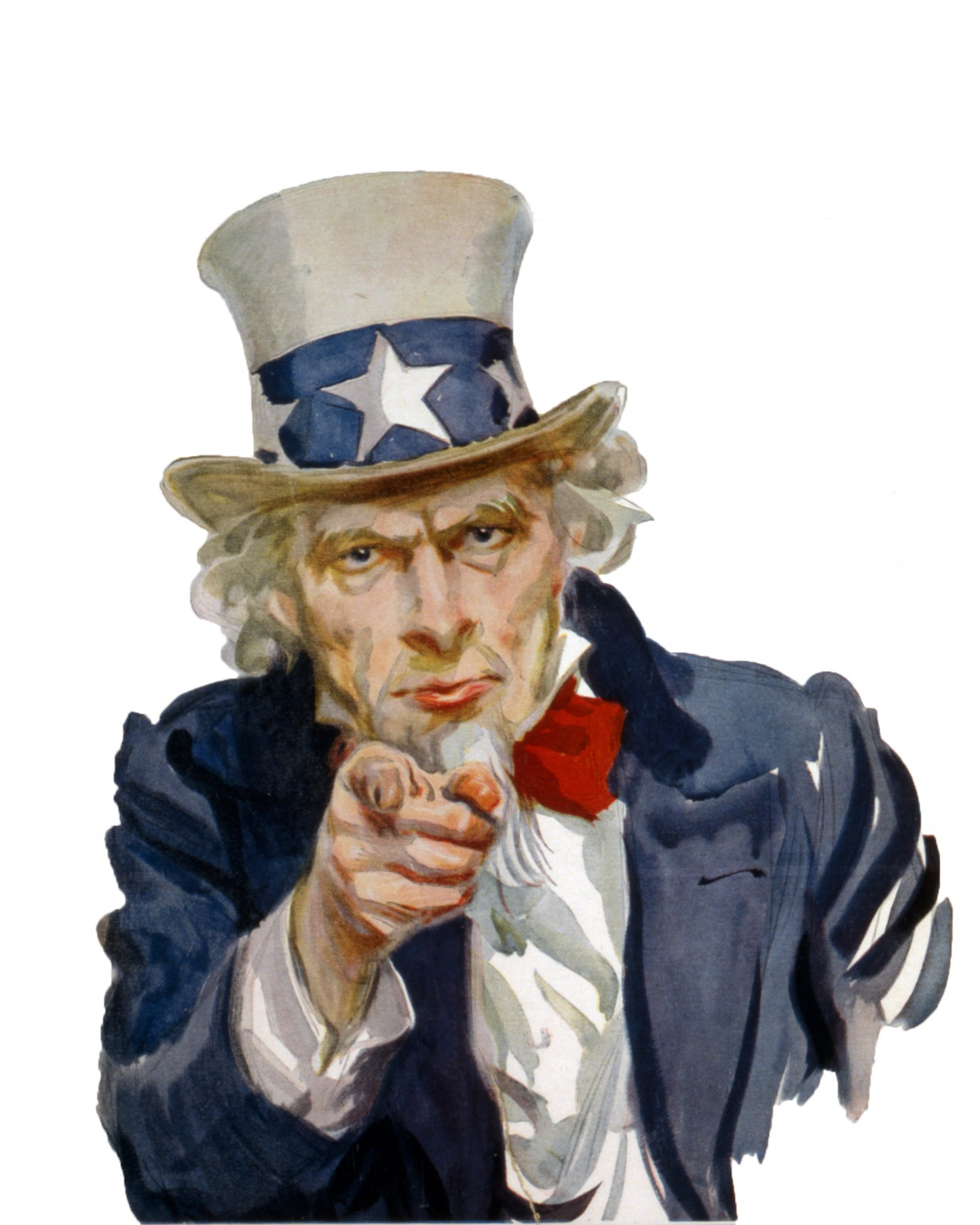 Uncle Sam Pointing Finger Clipart.