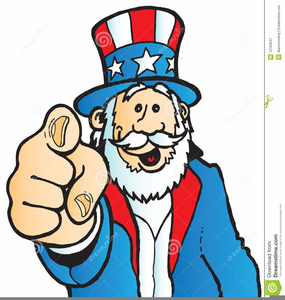 Uncle Sam Pointing Clipart.