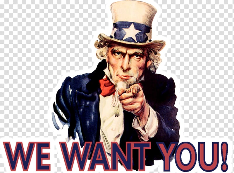Uncle Sam with we want you typed text, James Montgomery.