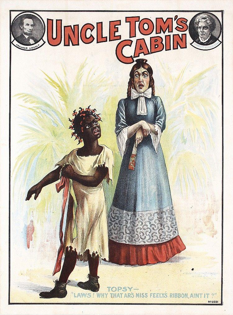 Vintage Original 1900s/1910s UNCLE TOM\'S CABIN Poster Topsy.