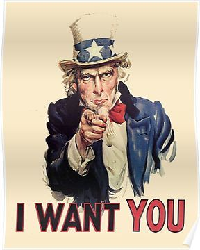 UNCLE SAM, Americana, America, I Want You! Uncle Sam Wants.