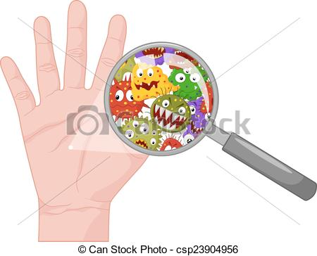 Clipart Vector of Dirty hand.