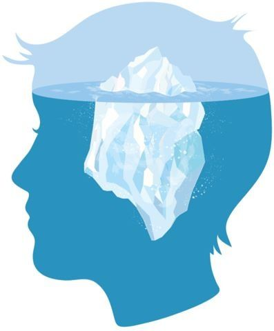 The Iceberg Metaphor: The Conscious and Unconscious Mind.