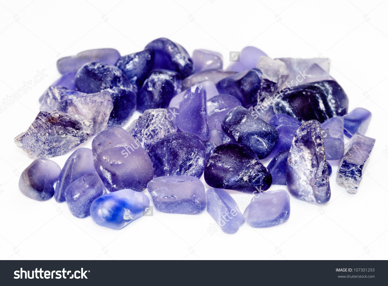Pile Uncut Raw Natural Iolite Gemstone Stock Photo 107301293.