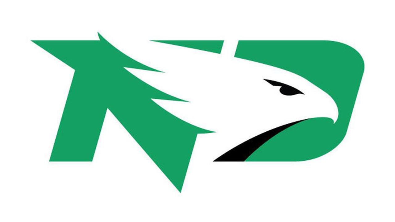 North Dakota Fighting Hawks Log.