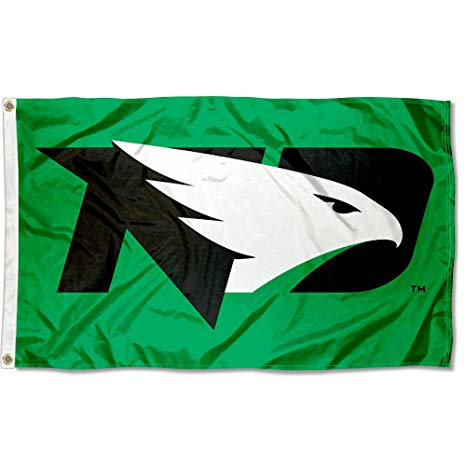College Flags and Banners Co. North Dakota Fighting Hawks New Logo Flag.