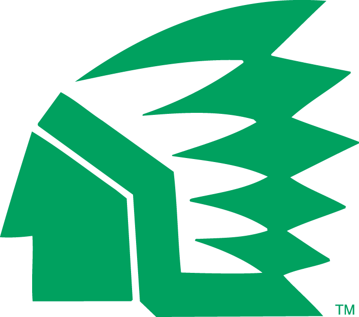 North Dakota Fighting Hawks Primary Logo (1976).