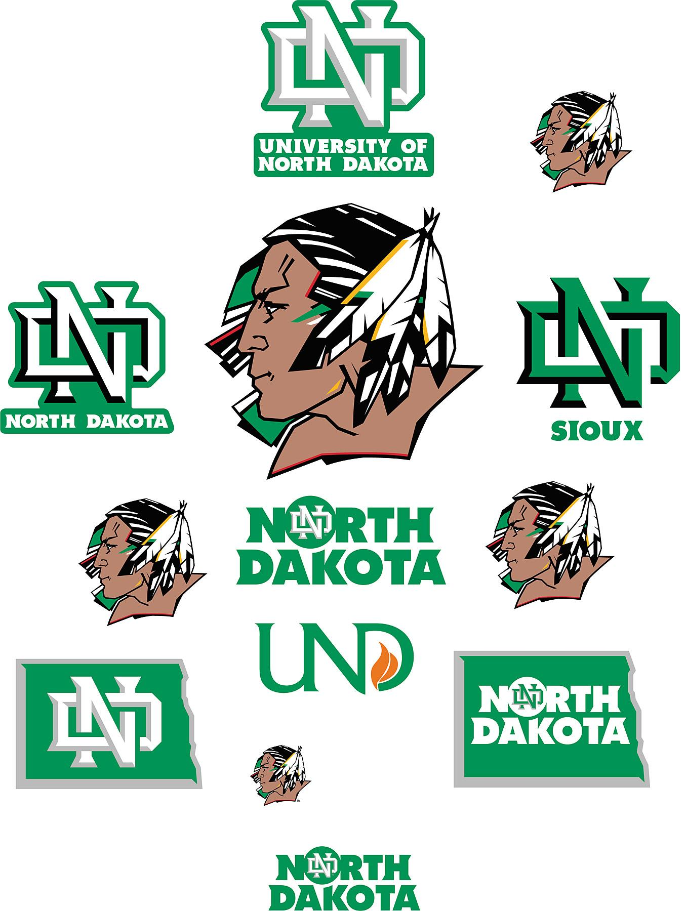 Free download North Dakota Fighting Sioux Logo Fathead Jr.