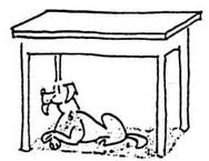 Dog Under The Table Clipart Black And White.