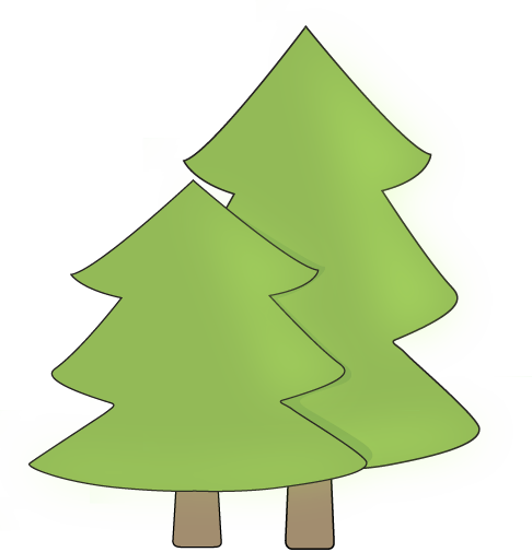 Two Trees Clip Art.