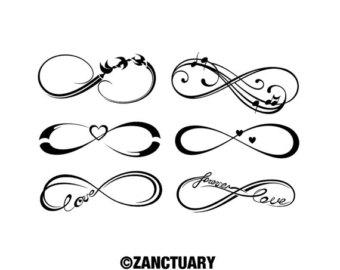 Infinity tattoo.