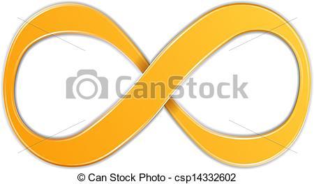 Vektor Clipart von symbol, unendlichkeit.