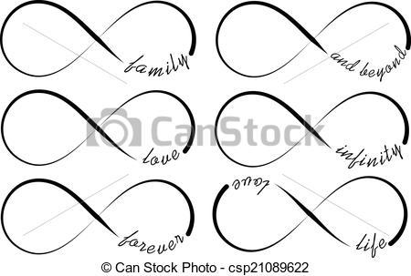 Vektor Illustration von Symbole, unendlichkeit.