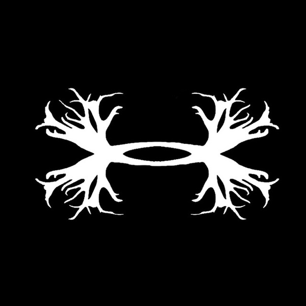 Under Armour Antlers Hunting Decal Sticker Vinyl.