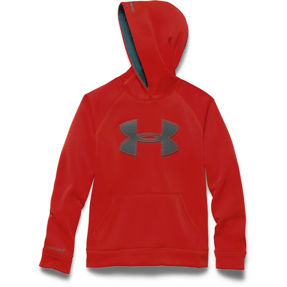 Under Armour Boys Youth UA Storm Armour Fleece Big Logo Hoodie.