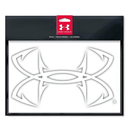 Amazon.com: Under Armour Fish Hook Logo Decal White 6.