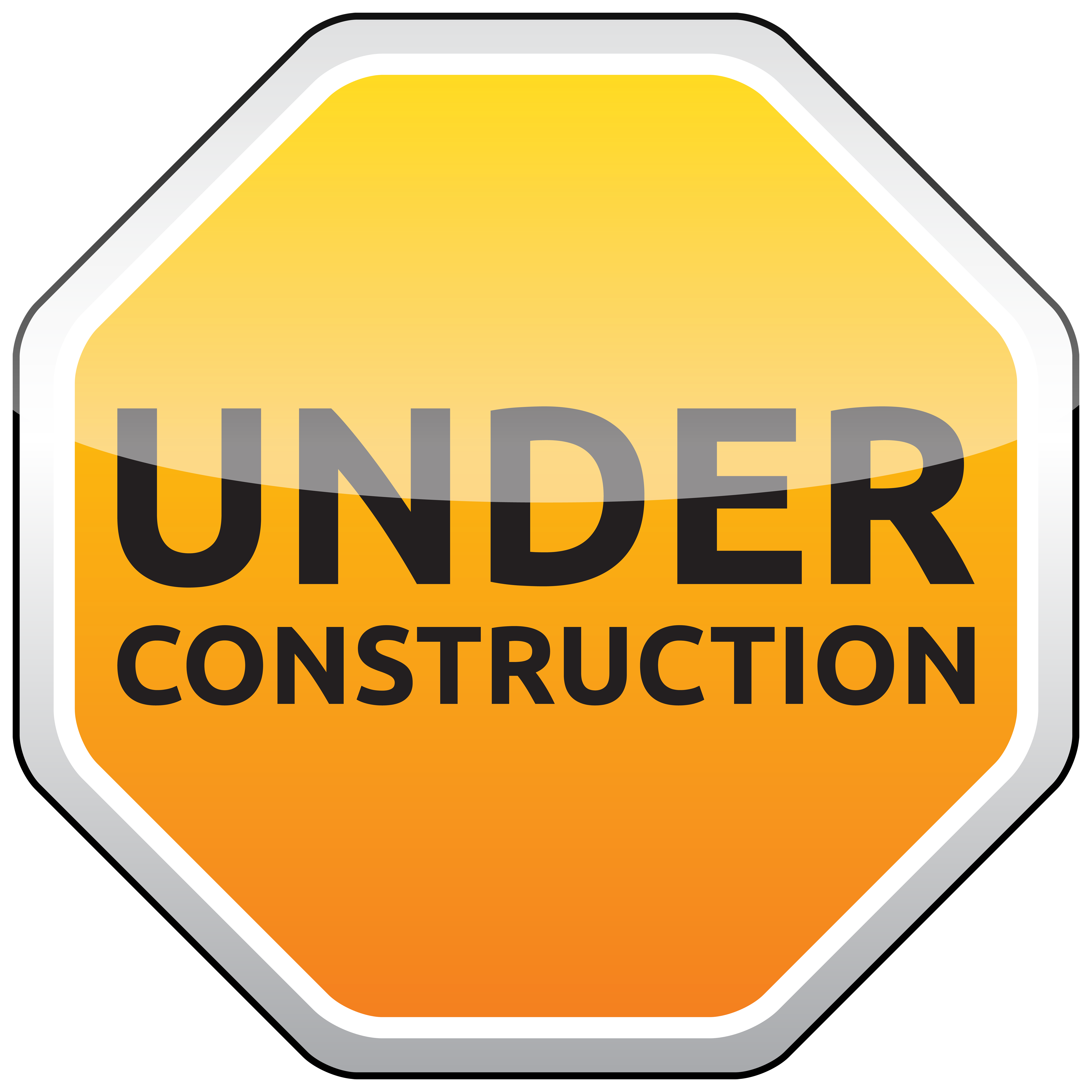 Under Construction Sign PNG Clipart.