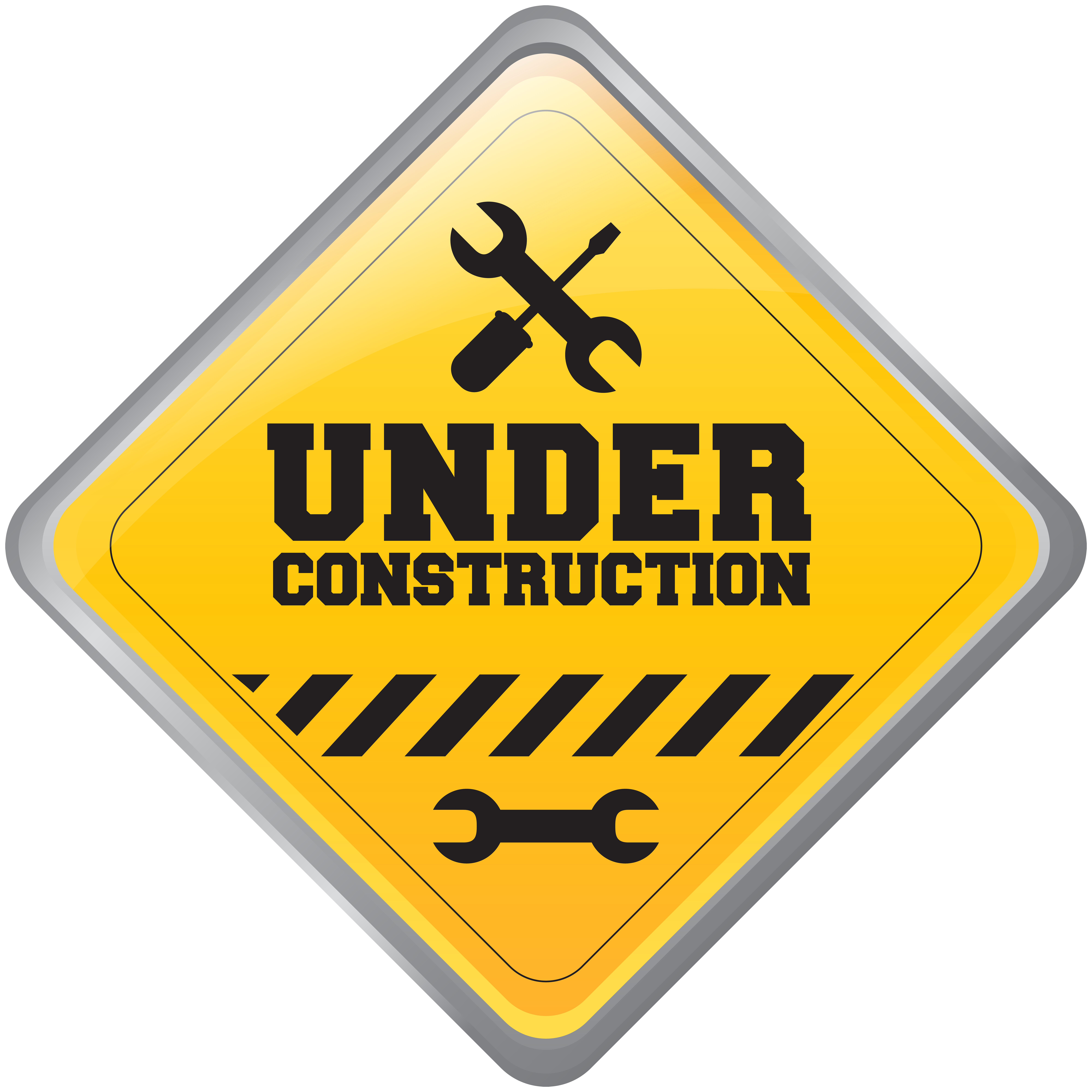 Under Construction Sign PNG Clip Art.
