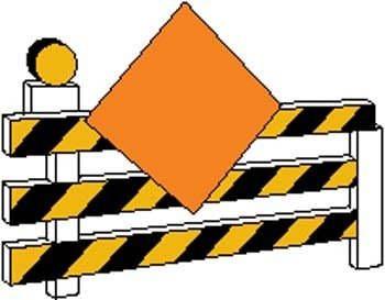Under Construction Sign Board Vector Clipart Graphic.
