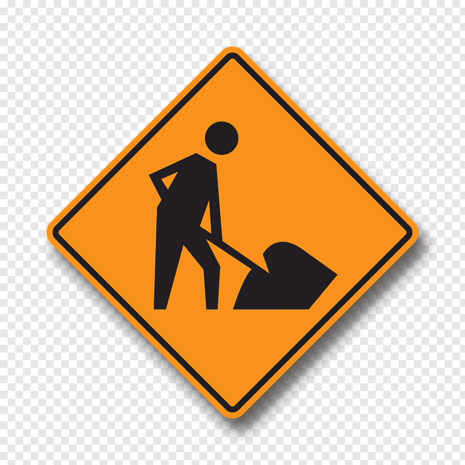 Graphy Logo, Sign, Traffic Sign, Roadworks, Warning Sign.