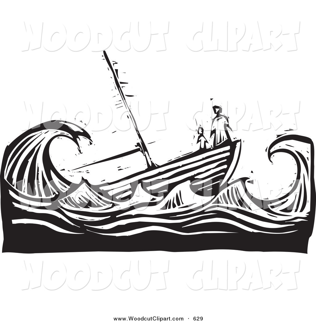 Clipart Ship In Storm.