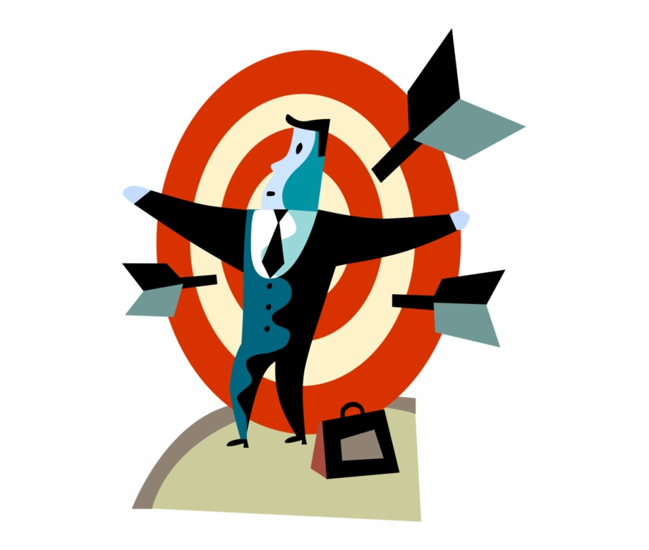 Vector Illustration Of Businessman Under Pressure Is.