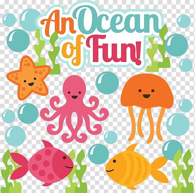 An ocean of fun illustration, Scrapbooking Sea , under sea.