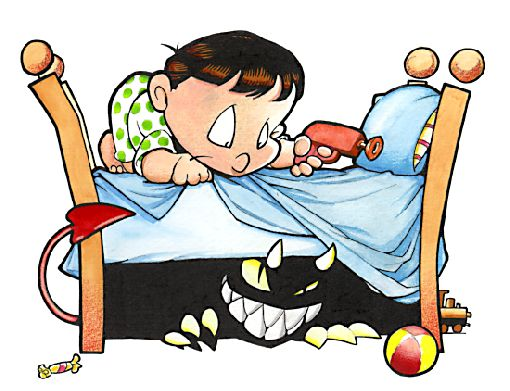 Monster Under Bed Clipart.