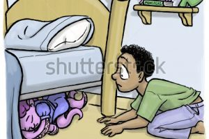 Looking under the bed clipart 3 » Clipart Portal.